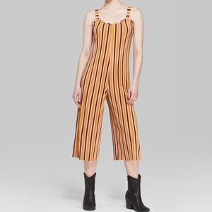 Wild Fable Striped Pleated Cropped Romper